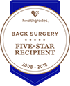 Award logo for Five-Star Recipient for Back Surgery