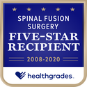 Award logo for Five-Star Recipient for Spinal Fusion Surgery for 13 Years in a Row (2008-2020)